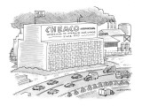 Sign on building reads, 'Chemco International Working to Improve Our Image… - New Yorker Cartoon Premium Giclee Print by Mick Stevens