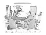 """You're doing fine.  A little more perjury and you'll be out of the woods."" - New Yorker Cartoon Premium Giclee Print by Leo Cullum"