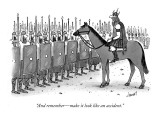 """""""And remember—make it look like an accident."""" - New Yorker Cartoon Premium Giclee Print by Tom Cheney"""