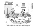 """Sh-h-h—sitting very quietly is part of the pickling process."" - New Yorker Cartoon Premium Giclee Print by Leo Cullum"