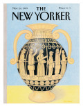 The New Yorker Cover - November 20, 1989 Premium Giclee Print by Bob Knox