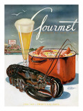Gourmet Cover - July 1945 Premium Giclee Print by Henry Stahlhut