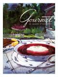 Gourmet Cover - August 1953 Regular Giclee Print by Henry Stahlhut
