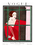 Vogue Cover - October 1924 Premium Giclee Print by Harriet Meserole