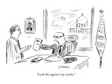 """Leak this against my wishes."" - New Yorker Cartoon Premium Giclee Print by David Sipress"