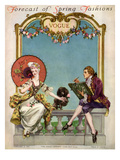 Vogue Cover - February 1914 Premium Giclee Print by Frank X. Leyendecker