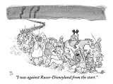 """""""I was against Russo-Disneyland from the start."""" - New Yorker Cartoon Premium Giclee Print by Paul Noth"""