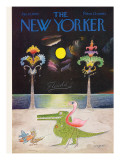 The New Yorker Cover - January 16, 1965 Premium Giclee Print by Saul Steinberg
