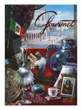 Gourmet Cover - March 1954 Regular Giclee Print by Henry Stahlhut