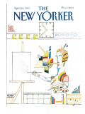 The New Yorker Cover - April 26, 1982 Premium Giclee Print by Saul Steinberg