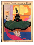 Vogue Cover - October 1915 Premium Giclee Print by Helen Dryden