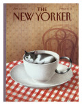 The New Yorker Cover - January 6, 1992 Regular Giclee Print by Gürbüz Dogan Eksioglu
