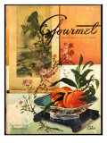 Gourmet Cover - August 1952 Regular Giclee Print by Henry Stahlhut