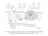 """I've done a lot of soul searching, and I've come to the conclusion that I…"" - New Yorker Cartoon Premium Giclee Print by Robert Mankoff"