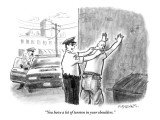 """You have a lot of tension in your shoulders."" - New Yorker Cartoon Premium Giclee Print by Pat Byrnes"