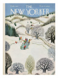The New Yorker Cover - February 1, 1947 Premium Giclee Print by Edna Eicke