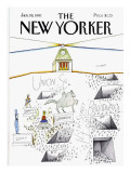 The New Yorker Cover - January 19, 1981 Premium Giclee Print by Saul Steinberg