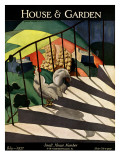 House & Garden Cover - July 1927 Premium Giclee Print by Bradley Walker Tomlin