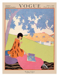 Vogue Cover - June 1917 Premium Giclee Print by Helen Dryden