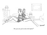 """""""Are you sure you've done this before?"""" - New Yorker Cartoon Premium Giclee Print by John Donohue"""