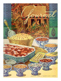 Gourmet Cover - August 1949 Regular Giclee Print by Henry Stahlhut