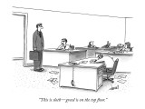 """""""This is sloth—greed is on the top floor."""" - New Yorker Cartoon Premium Giclee Print by Tom Cheney"""