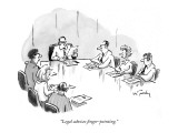 &quot;Legal advises finger-pointing.&quot; - New Yorker Cartoon Premium Giclee Print by Mike Twohy