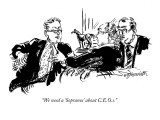 """We need a 'Sopranos' about C.E.O.s."" - New Yorker Cartoon Premium Giclee Print by William Hamilton"