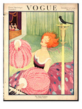 Vogue Cover - October 1919 Regular Giclee Print by George Wolfe Plank