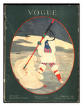 Vogue Cover - August 1917 Premium Giclee Print by Georges Lepape