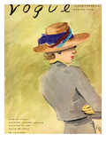 "Vogue Cover - January 1937 Premium Giclee Print by Carl ""Eric"" Erickson"