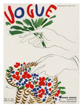Vogue Cover - June 1940 - A Tisket, A Tasket Regular Giclee Print by Eduardo Garcia Benito