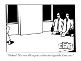 """Weekends I like to be able to panic without having all the distractions."" - New Yorker Cartoon Premium Giclee Print by Bruce Eric Kaplan"
