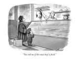 """You tell me if the roast beef is fresh."" - New Yorker Cartoon Premium Giclee Print by Harry Bliss"