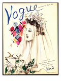Vogue Cover - April 1937 - Spring Wedding Regular Giclee Print by Christian Berard