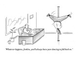 """""""Whatever happens, Jenkins, you'll always have your dancing to fall back on."""" - New Yorker Cartoon Premium Giclee Print by Bob Eckstein"""