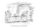 """I'm not spinning—I'm contextualizing."" - New Yorker Cartoon Premium Giclee Print by Barbara Smaller"