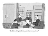 """Let's just sit tight till the cultural amnesia sets in."" - New Yorker Cartoon Premium Giclee Print by Peter C. Vey"