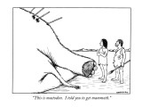 """This is mastodon.  I told you to get mammoth."" - New Yorker Cartoon Premium Giclee Print by Alex Gregory"