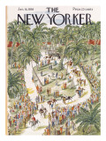 The New Yorker Cover - January 18, 1958 Regular Giclee Print by Constantin Alajalov