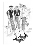 Vogue - February 1933 Regular Giclee Print by Jean Pagès