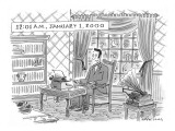'12:01 A.M., January 1, 2000' - New Yorker Cartoon Premium Giclee Print by Mick Stevens