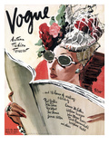 Vogue Cover - July 1941 Premium Giclee Print by René Bouét-Willaumez