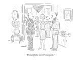 """Francophobe meet Francophile."" - New Yorker Cartoon Premium Giclee Print by Robert Mankoff"