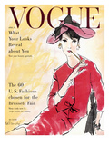 Vogue Cover - April 1958 Premium Giclee Print by René R. Bouché