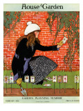 House &amp; Garden Cover - February 1916 Premium Giclee Print by Ruth Easton