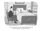 """It's not about the story. It's about Daddy taking time out of his busy da…"" - New Yorker Cartoon Premium Giclee Print by Peter C. Vey"
