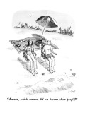 &quot;Armand, which summer did we become chair people?&quot; - New Yorker Cartoon Premium Giclee Print by Roz Chast