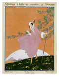 Vogue Cover - March 1916 Regular Giclee Print by Helen Dryden