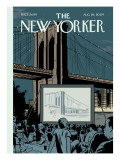The New Yorker Cover - August 24, 2009 Regular Giclee Print by Adrian Tomine